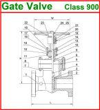 1500lb de Van een flens voorzien Klep uit gegoten staal van de Poort van het Eind (GAZ40W)