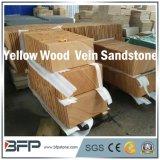 中国の黄色いカラー砥石で研がれた終わりを用いる木製の静脈の砂岩タイル