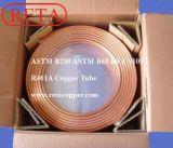 Tubo de cobre de la bobina de la crepe de la refrigeración