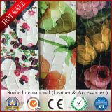 Горячая продавая напечатанная кожа кожи PVC синтетической/материалов картины кожаный для делать сумки