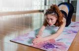Glijd niet uit en de Natte Absorberende RubberMat van de Yoga Microsuede met Privé Etiket