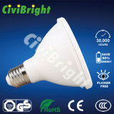 E27 PC + Aluminium 7W Blanc LED PAR20 Light