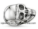 316L 스테인리스 두개골 헤드 유럽 큰 구멍 구슬