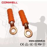 A fábrica do vendedor de Conwell Pre-Isolou talões bimetálicos de friso do cabo do anel do terminal