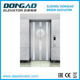 Vvvf Machine à engrenage sans engrenage Ascenseur à passager avec miroir Gravure Finition en acier inoxydable