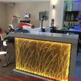 Prêts personnalisés incurvée LED de changement de couleur d'accueil comptoir de bar design moderne