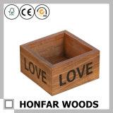 Незаконченная малая деревянная коробка хранения коробки подарка с верхней частью скольжения