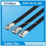 Breite 4mm/4.6mm blanker Edelstahl Kugel-Verschluss Kabelbinder mit preiswertem Preis