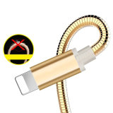 Relâmpago coberto de metal Carregando cabo de carregador de dados USB para iPhone