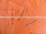 Orange Microfiber Poliertuch mit schwarzem Firmenzeichen