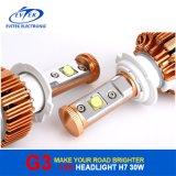 자동차 LED 가벼운 30W 3000lm H7 H1 H3 9005 (HB3) 크리 사람 LED 헤드라이트 6000k