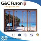 Puerta de plegamiento de cristal de aluminio comercial del cuarto de baño de la puerta del precio barato casero del fabricante