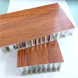 Tarjeta de aluminio del panel del panal del color de madera/del panal (HR431)