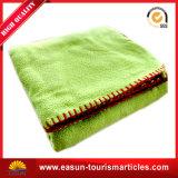 Haute qualité tricot de coton Fancy-Weave couverture, les voyages en avion Blanket