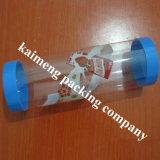 Het embleem drukte de Duidelijke Plastic Cilinders van pp met Deksels af