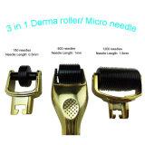 Rodillos de aguja Derma Micro con 3 rodillos de aguja Cabezales independientes contar 180C 600c / 1200c