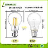 A60 2W-8W Birnen-Licht des Heizfaden-LED mit hohem Lumen
