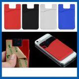 Logotipo impresso auto-impresso Carteira inteligente de silicone para cartões de retenção