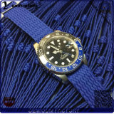 Überwacht Uhr-rostfreier rostfreier Kasten Perlon Brücke-Armbanduhr-Quarz-förderndes kundenspezifisches Firmenzeichen Spitzenverkaufender männer der Form-Yxl-460 en gros