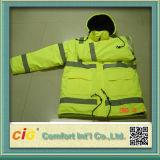 revestimento reflexivo da segurança do inverno da visibilidade elevada alaranjada impermeável