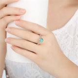 Insieme stabilito dell'orecchino e dell'anello di modo dei monili dell'argento sterlina 925 dell'anello 100% del regalo di compleanno di dicembre