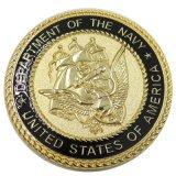 Monete su ordinazione del blu marino degli S.U.A. del metallo di promozione