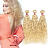 Blonde Natural Brazilian Hair Weft Kinky Curl Atacado Unprocessed Virgin Hair