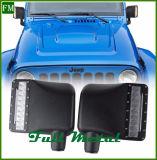 Coperchio laterale ausiliario dello specchio del nero LED di Warngler della jeep