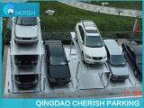 3 níveis com o poço que desliza o sistema do estacionamento