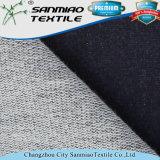 Algodão Spandex Indigo French Terry Knitted Tecido de denim para roupas