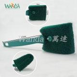Короткое замыкание ручку щетки для очистки губки с абразивным покрытием подушки щетки вращающегося пылесборника