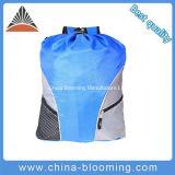 Saco de nylon azul relativo à promoção da sapata de Gymsack da natação do Drawstring