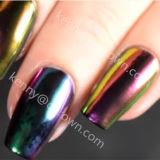 Хамелеон хром УФ гель польский Блестящие цветные лаки лак для ногтей искусства пигмента порошок