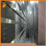 Ligne d'enduit manuelle de poudre de profil en aluminium horizontal