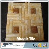 De natuurlijke het Bedekken van de Steen Mooie Witte Tegels van het Mozaïek van de Travertijn voor de Tegel van de Muur/de Bekleding van de Muur