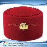 Cadre de empaquetage rond de montre de bijou d'étalage en bois de luxe de cadeau (xc-hbj-051)