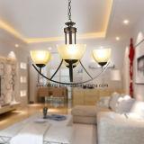 Lâmpada de suspensão moderna do candelabro da venda quente de Médio Oriente com vidro