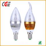 Ampoule de bougie de la forme E12 6W DEL de flamme