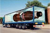 Нестандартная конструкция рекламируя знамя винила гибкого трубопровода PVC средств печатание плаката индикации материальное
