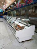 Sanye curvo de cristal carnicería Usado refrigerado Deli Vitrinas Chiller