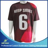 Camisola cheia Custom Designed dos esportes de equipe do Sublimation com logotipos dos patrocinadores