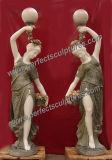 Giardino che intaglia la statua di pietra della lanterna con la scultura di marmo (SY-C1063)