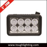 "5 "" Chargeur Skid Steer carrés 24W CREE LED phare pour l'affaire/ John Deere/Nh"