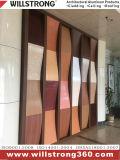 materiale composito di alluminio di legno della decorazione della costruzione del comitato di rivestimento di reticolo di 4mm