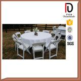 Silla de plegamiento blanca negra barata al por mayor de la resina para la boda al aire libre (BR-P082)