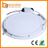 luz de teto Ultrathin interior interna redonda do painel da iluminação 300mm do diodo emissor de luz 24W (90lm/W, CRI>85, PF>0.9, CE/RoHS)