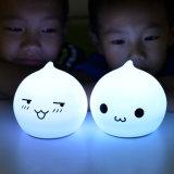 Bewegliches reizendes LED Licht des Silikon-Nachtlicht-mit dem 7 Farben-Ändern