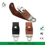 무료 샘플 USB 드라이브 섬광 가죽 열쇠 고리
