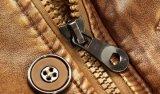 Parte superior do plutônio do revestimento de couro dos homens para o inverno com Zipper Sy-155