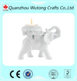 Presentes populares do retorno do casamento do suporte de vela da luz do chá do elefante da resina